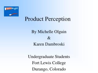 Product Perception