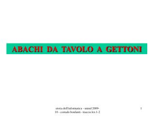 ABACHI  DA  TAVOLO  A  GETTONI