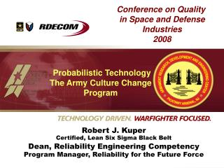 Conference on Quality in Space and Defense Industries