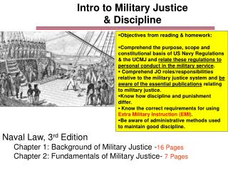 Intro to Military Justice & Discipline