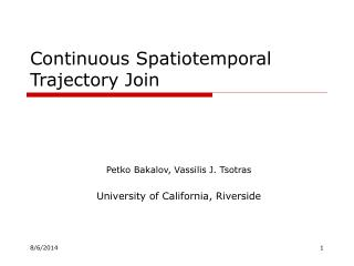 Continuous Spatiotemporal Trajectory Join