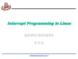 Interrupt Programming in Linux