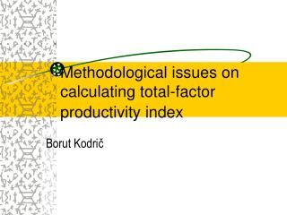 M ethodological issues on calculating total-factor productivity index