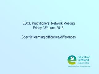 Specific Learning Difficulties/Differences (SpLD )