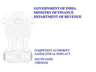 GOVERNMENT OF INDIA MINISTRY OF FINANCE DEPARTMENT OF REVENUE