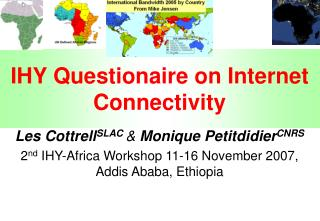 IHY Questionaire on Internet Connectivity