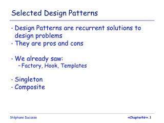 Selected Design Patterns