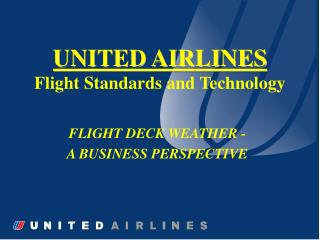 UNITED AIRLINES Flight Standards and Technology