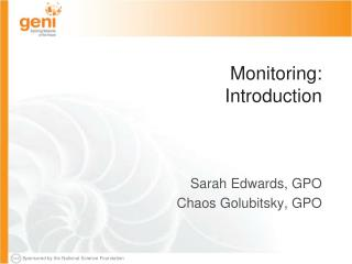 Monitoring: Introduction