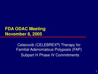 FDA ODAC Meeting November 8, 2005