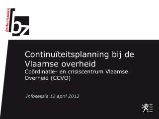 Infosessie 12 april 2012