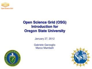 Open Science Grid Ecosystem