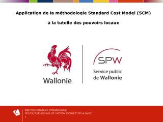 Application de la méthodologie Standard Cost Model (SCM)  à la tutelle des pouvoirs locaux