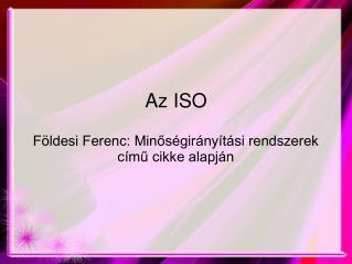 Az ISO