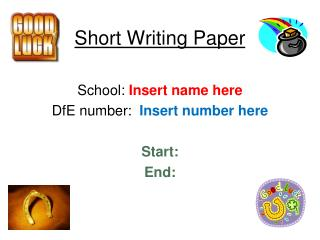Short Writing  Paper