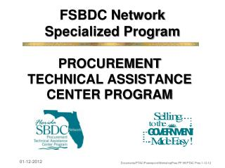 FSBDC Network Specialized Program