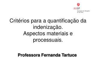 Critérios para a quantificação da indenização.  Aspectos materiais e processuais.