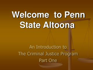 Welcome  to Penn State Altoona
