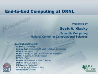 End-to-End Computing at ORNL