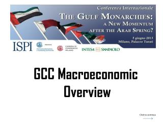 GCC  Macroeconomic Overview