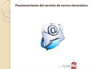 Funcionamiento del servicio de correo electrónico.