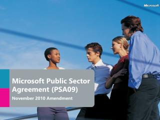 Microsoft Public Sector Agreement (PSA09) November 2010 Amendment