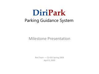 Diri Park Parking Guidance System