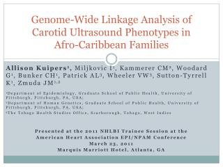 Genome-Wide Linkage Analysis of Carotid Ultrasound Phenotypes in Afro-Caribbean Families