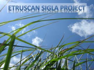 Etruscan  Sigla  Project
