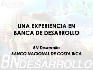 UNA EXPERIENCIA EN BANCA DE DESARROLLO