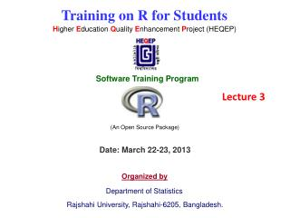 Training on R for Students