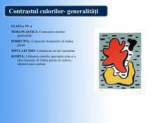 Contrastul culorilor- generalit??i