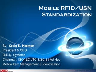 Mobile RFID/USN Standardization