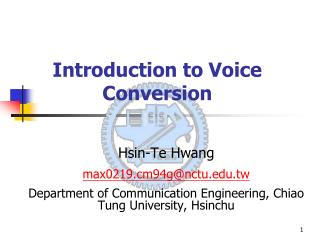 Introduction to Voice Conversion