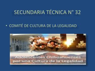 SECUNDARIA TÉCNICA N° 32