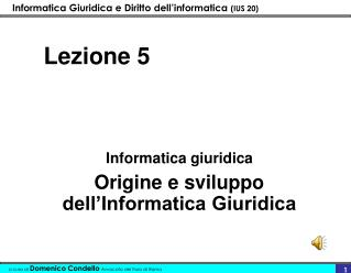 Lezione 5