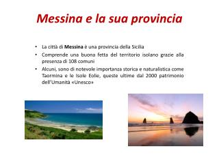 Messina e la sua provincia