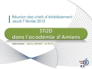 STI2D dans l'académie d'Amiens