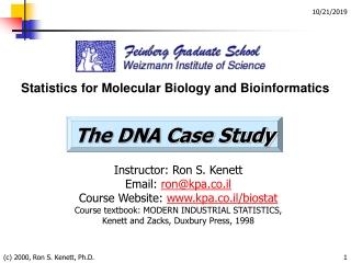 C 2000, Ron S. Kenett, Ph.D.