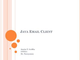 Java Email Client