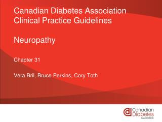 Canadian Diabetes Association Clinical Practice Guidelines Neuropathy
