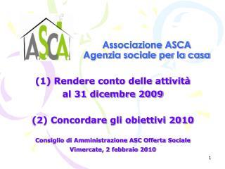 Associazione ASCA  Agenzia sociale per la casa