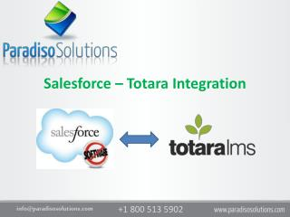 Salesforce  –  Totara Integration