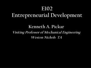 E102 Entrepreneurial Development