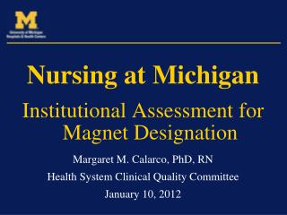 Nursing at Michigan