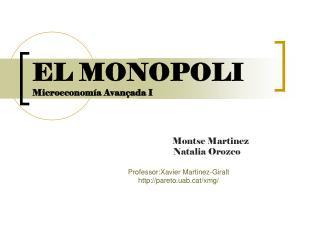 EL MONOPOLI Microeconomía Avançada I