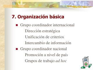7. Organización básica