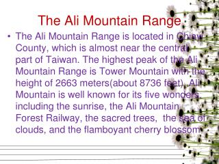 The Ali Mountain Range
