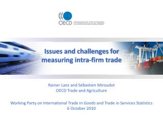 Issues and challenges for measuring intra-firm trade