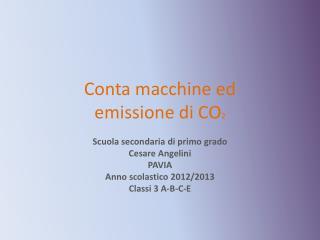 Conta macchine ed emissione di CO 2
